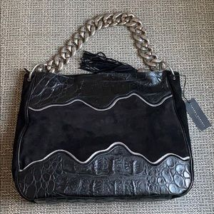 New Sandra Roberts Leather Tote Bag